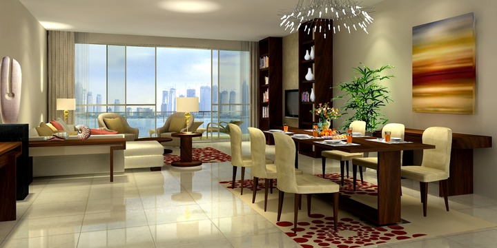Luxury apartment interior - Interior Design Hla New Serviced Apartments The Palm